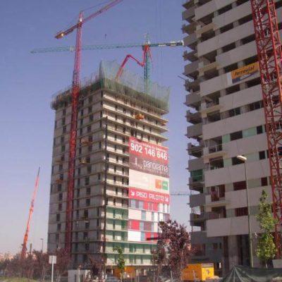 Torre Chamartin en construcción